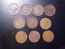 10 VARIOUS CANADA COINS - VICTORIA - EDWARDVS - GEORGIVS!    Y138QXX-R