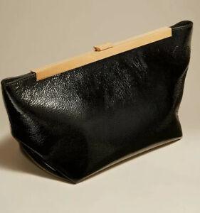 Khaite Aimee Clutch bag NWT $1260 Black patent