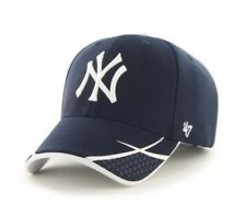 New York Yankees hat cap Adjustable '47 Brand Sensei MVP nwt new white Navy