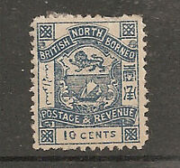 Album Treasures North Borneo Scott # 43  10c  Coat of Arms Mint Hinged
