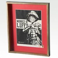 ONE PIECE WOODBLOCK PRINT COLLECTION Monkey D Luffy Limited 300 Anime Japan Rare