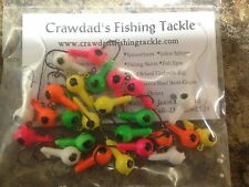 "25 Pack 1/8oz Round Head Floating Jigs #4 Hooks ""Fast Free Shipping"""