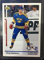 Lot Of 850 1992-93 Upper Deck Hockey Peter Forsberg Card # 375