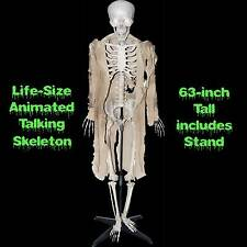 Standing Life Size ANIMATED TALKING HUMAN SKELETON Halloween Haunted House Prop