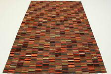 Vintage Alfombra Patchwork Oriente Diseñador Kelim 250x160 de colores rojo 2626