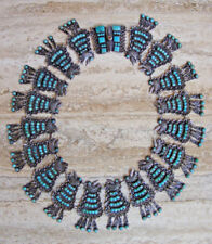 VINTAGE MATILDE POULAT MATL  MEXICAN STERLING SILVER TURQUOISE COLLAR NECKLACE