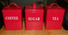Red Kitchen Canister Sets for sale | eBay