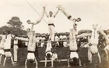 Gymnastics Display (A)  from  ' Saltash collection '  Plymouth Naval ? RP old pc