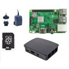 Raspberry Pi 3 Model B Plus (2018 Model) - BLACK Case Official 16GB Starter Kit
