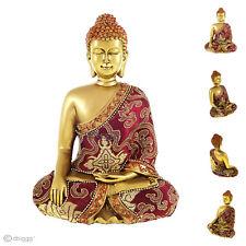 Thai Buddha Meditation  rot gold Dekofigur Höhe ca. 22 cm