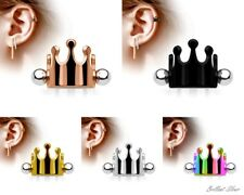 Ear Piercing Helix Cartilage Tragus Ear Piercing Barbell Shield Crown Ear Cuff