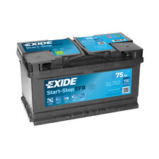 1x Exide Stop Start 75Ah 730CCA 12v 110 EFB Car Battery 4 Year Warranty - EL752