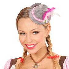 Trachtenhut Oktoberfest Mini Fedora Hut mit Feder Bayrischer Tiroler Damen Hut