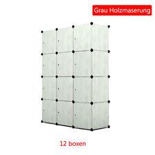 Kleiderschrank DIY Aktenregal Regalsystem Schuhregal Büro Steckregal mit Türen