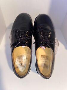 Vintage Dr Martens 4 Eye Black Oxfords 1561 US Size 13. Made In England