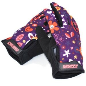 ZippyRooz Flowers Toddler/ Little Kids Bike Gloves Full Long Finger Girls Boys