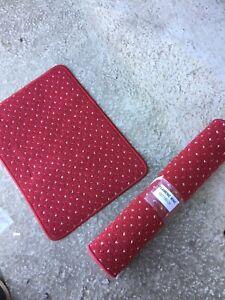 NEW Runner & Small Rug Mat Wine Colour 25/5/O/LB