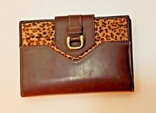 Piel OSMO fine maroquinerie leather cheetah high qualityunique women bag wallet