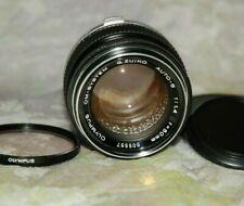 Olympus OM Zuiko 50mm f/1.4 MF Lens Silver Nose +Olympus Sky Filter Mirror Less