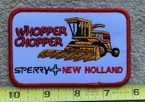 Vintage Whopper Chopper Sperry New Holland Patch Farming Advertising Patch