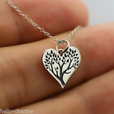 TREE OF LIFE NECKLACE - 925 Sterling Silver - Deep Roots Strong Trunks Growing