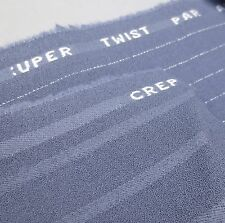 Lot 2 Contrasting VTG Wool CREPE SUPER TWIST Suiting Fabric Purple Grey 4 Yd NOS