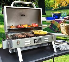New Portable Stainless Steel Gas Grill Tailgate Camping Grill Propane Tabletop