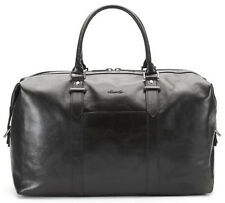 """Kenneth Cole A Duff Idea Deluxe Leather 20"""" Carry On Duffel - Black"""