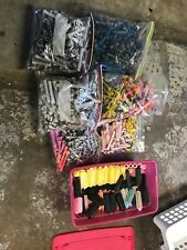 HUNDREDS OF Vintage Plastic Hair Perm Curlers Roller Cord Plastic Rubber Padded