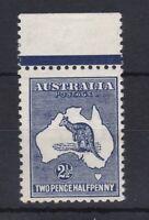K776) Australia 1913 2½d Indigo (deep shade) Kangaroo 1st wmk with variety