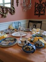 VTG Mismatched China 29 Piece Set for 4 Fairy Tale Limoges-Turgot Edwin Knowles