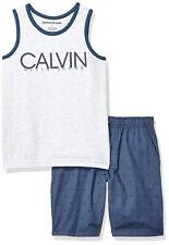 Calvin Klein Boys Gray & Blue Tank Top 2pc Short Set Size 2T 3T 4T 4 5 6 7