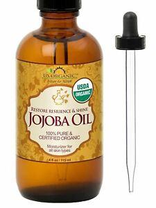 US Organic Jojoba Oil, USDA Certified Organic,100% Pure & Natural, Cold Pressed