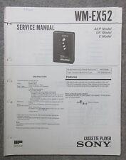 Service Manual Sony WM-EX52