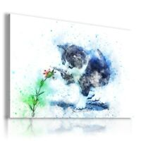 PAINTING DRAWING CATS KITTENS ANIMALS PRINT Canvas Wall Art  R71 UNFRAMED