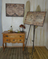 Antike Weltkarte Holz Landkarte Vintage Antik Karte Alte Welt Globus Loft Vintag