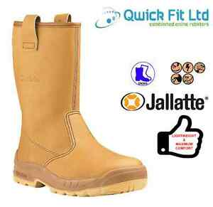 MENS WOMENS JALLATTE JALASKA RIGGER SAFETY STEEL TOE CAP WATERPROOF WORK BOOTS