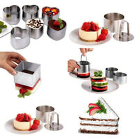 AU_ Stainless Steel Mousse Cake Ring Mold Cookie Cutter Mold Cake Pastry Baking