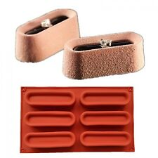 Cuboid Shaped Art Mousse 3D Cake Mold Silicone Chocolate Mould Pan Bakeware