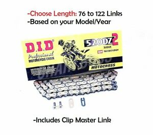 D.I.D DID 520 DZ2 Offroad Drive Gold Chain with Clip Master Link Non Oring