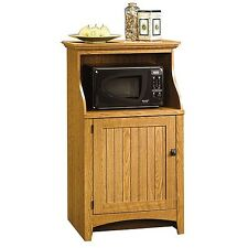 Wood Kitchen Microwave Oven Stand Pantry Rack Storage Cabinet Toaster Furniture