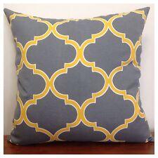 45x45cm Richloom Indoor/Outdoor Grey/Yellow Moroccan Cushion Cover