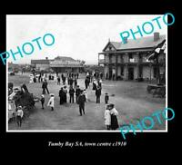 OLD 8x6 HISTORIC PHOTO OF TUMBY BAY S.A VIEW OF TOWN CENTRE c1910