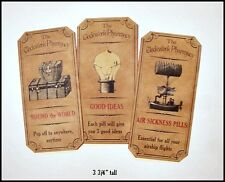 SET of 12 VINTAGE LOOK STEAMPUNK APOTHECARY LABELS Halloween/Primitive
