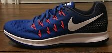 Nike Zoom Pegasus 33 Azul Zapatillas Correr Para Hombre Uk Size 8 bnnb RRP £ 105