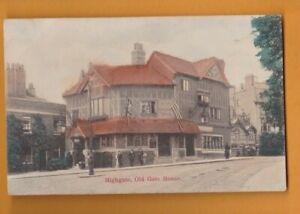 London- Highgate, Old Gate house.  Postcard.