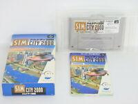 SIM CITY 2000 Ref/bcc Super Famicom Nintendo Japan sf