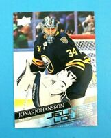2020-21 UD Series 1 Jonas Johansson Young Guns RC French SP #228