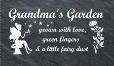 Personalised Slate Fairy garden sign / plaque, mum, grandma, any name