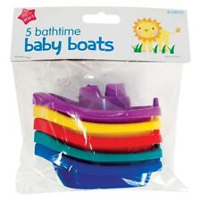 5x Plastic Floating kids childrens Baby Bath tub Time Boats toys Hours of Fun UK